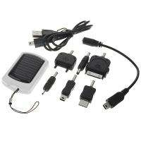 Portable LED Light Solar Power Battery Charger w/ Cell phone Adapter
