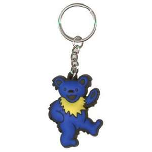 Grateful Dead   Blue Dancing Bear   Rubber Keychain