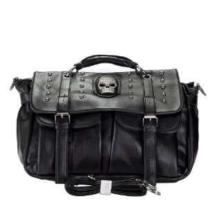 Inspired Skull Studded Satchel Handbag Shoulder Bag