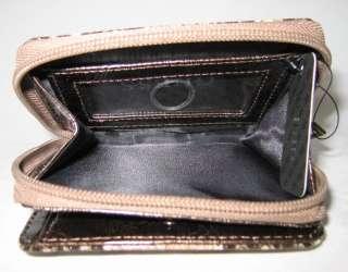 GUESS Dakar Small Satchel Bag Purse Coin Wallet Brown