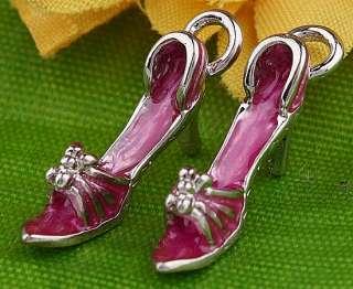 20pc 18KGP Enamel High Heel Shoes Bead Charm AA148 5