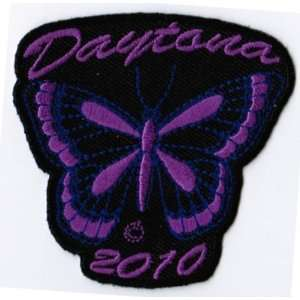DAYTONA 2010 PURPLE DRAGONFLY LADIES BIKE WEEK Embroidered NEW Biker