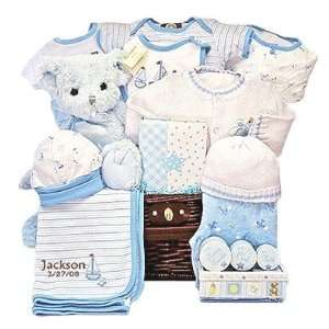 Sailor Themed New Baby Boy Keepsake Gift Basket   Great Shower