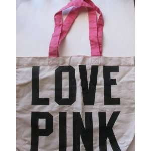 Victorias Secret Pink Tote Bag Love Pink Pink Color