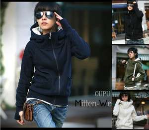 Fashion Womens Casual Zip Up Tops Hoodie Coat Jacket Outerwear