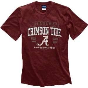 Alabama Crimson Tide Crimson Router Heathered Tee Sports