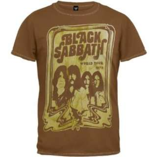 Black Sabbath   World Tour T Shirt Clothing