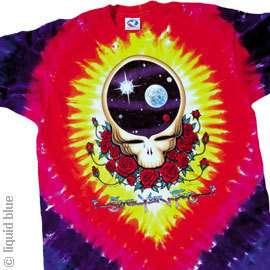 New GRATEFUL DEAD Space Your Face Tie Dye T Shirt