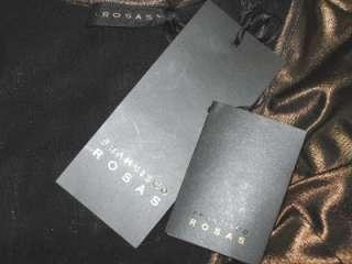 NWT FRANCISCO ROSAS Bronze Silk Jersey Dress 42 $1120