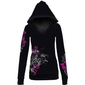 FMF Delicate Womens Long Sleeve Casual Shirt   Color Black, Size