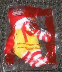 Ty Beanie Baby #6 Ronald McDonald Bear McDonalds Toy