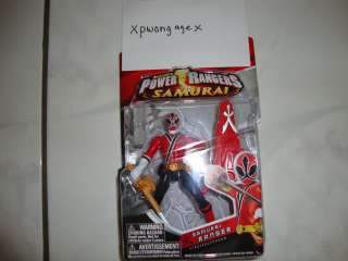 Power Rangers Samurai Red Fire Regular WAVE 2 BRAND NEW