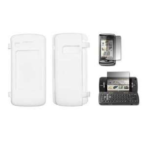 White Silicone Gel Skin Cover Case + LCD Screen Protector