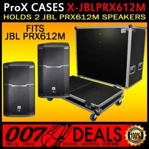 FIT 2X JBL PRX 612M FLIGHT ROAD TRANSPORT CASE W CASTERS JBL PRX 612M