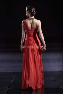 Chiffon Single Shoulder Evening Prom Ball Gown Party Dress 5sz