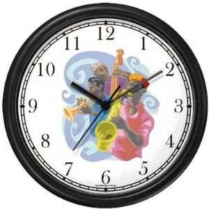 Jazz Trio No.3 Jazz Musician Wall Clock by WatchBuddy