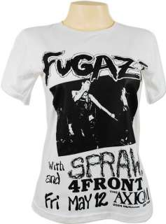 Fugazi Tour The Axiom Vtg Retro Skinny T Shirt Women M