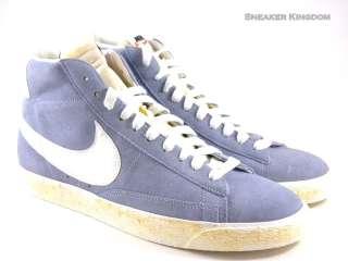 Nike Blazer High Vintage Gray Blue/White Suede Hi Men