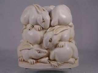 Harmony Kingdom Rather Large Hop Rabbits Retd.98 NIB!