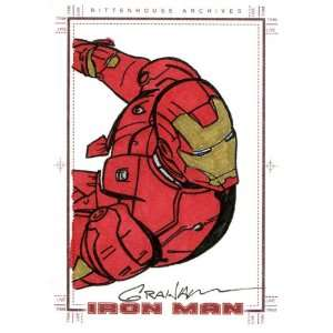 Iron Man Kevin Graham Sketch Card By Rittenhouse