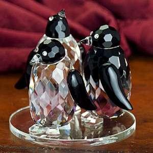 Godinger crystal penguin buddies figurine ornament