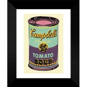 Andy Warhol Framed Ar 18x15 Campbells Soup Can, 1965