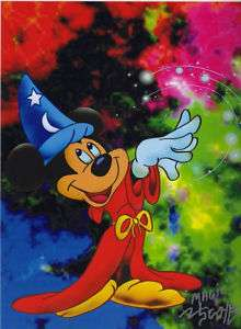 DISNEY MICKEY MOUSE FANTASIA SORCERER TRIBUTE PRINT