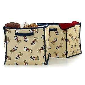 Mickey Mouse Canvas Storage Bins Set of Two NEW