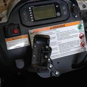 : UTV Tech 710151 Dash Plate GPS Mount ONLY For 2004 11 Yamaha Rhino