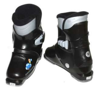 Rossignol R18 Ski Boots Black Kids Youth REAR ENTRY 16.5 US 9 EUR 26