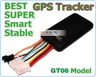 portable Mini Vehicle Car realtime GPS Tracker GSM & GPS antennas SOS