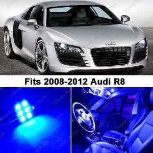 Audi R8 BLUE LED Lights Interior Package Kit (4 Pieces)