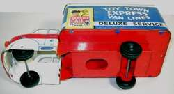 VINTAGE MARX TOY TOWN EXPRESS VAN LINES BOX TRUCK W/GRAPHICS