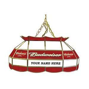 BUD, Customized Budweiser 28 inch Stained Glass Pool Table Light