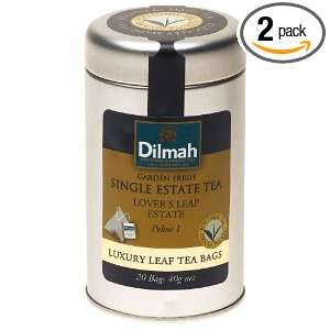 Dilmah Single Estate Tea, Lovers Leap Estate, Pekoe 1, 20 Count Tea