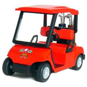 4½ Die cast Metal Golf Cart Model (Red) Toys & Games