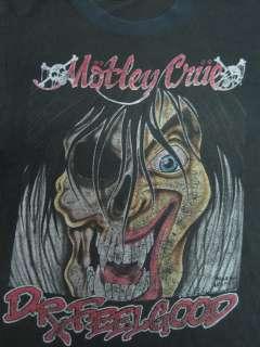 VINTAGE VTG MOTLEY CRUE DR. FEEL GOOD METAL TEE 1990 T SHIRT