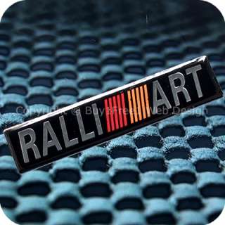 2760b1f1 ralliart aluminium alloy metal resin 3d chrome car plate