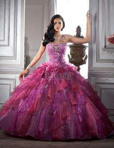 Quinceanera Party Masquerade Helloween Evening Prom Dress Ball Gowns