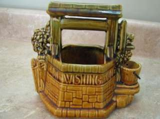 MCCOY Pottery WISHING WELL Planter/Vase MAKE A WISH!