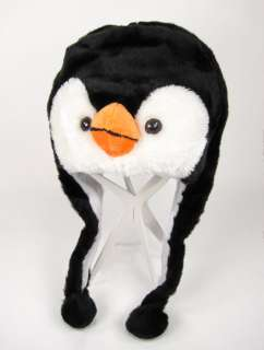 Plush Winter Animal PENGUIN Hat Beanie Teen