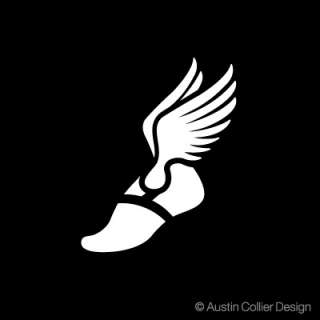 TRACK SYMBOL Vinyl Decal Car Sticker   Winged Foot