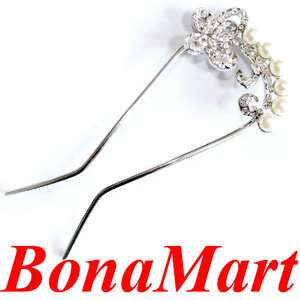 New beautiful SWAROVSKI crystal butterfly hair pin up comb stick