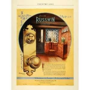 1924 Ad Russwin Distinctive Hardware Russell Erwin Door