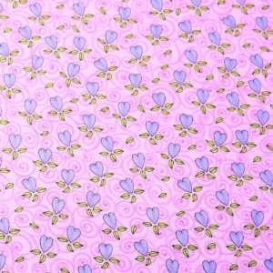Brother Sister Birthday Girls Hearts Fabric by the Yard