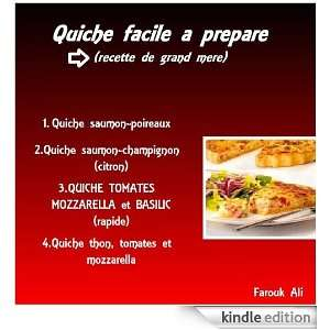 quiche facile (ma cuisine) (French Edition): farouk ali: