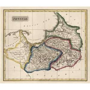 Antique Map of Prussia (c1817) by Fielding Lucas (Archival