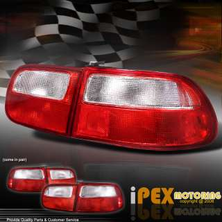 92 95 CIVIC Hatchback JDM RED/Clear Tail Lights EG EJ
