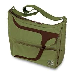 Puku Laptop Messenger Bag   Olive & Gray: Electronics