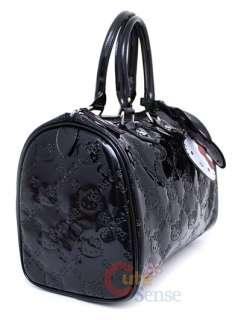 Sanrio Hello Kitty City Embossed Hand Bag   Black Loungefly Satchel